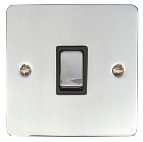 G&H FC305 Flat Plate Polished Chrome 1 Gang Intermediate Rocker Light Switch
